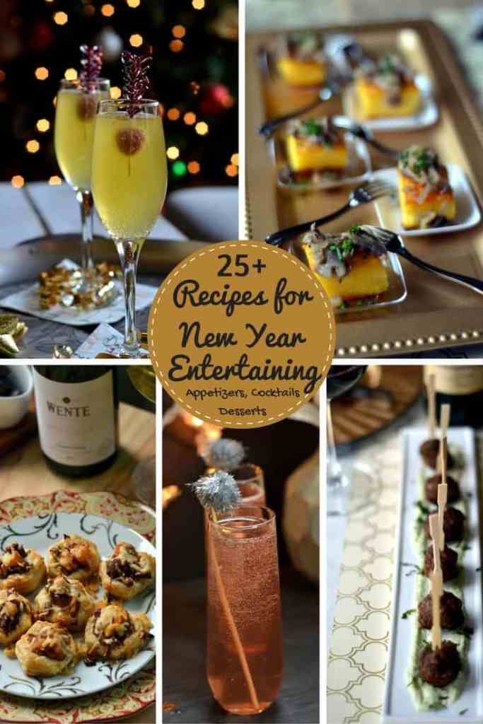 25+ Recipes for New Year Entertaining - Cocktail and Dessert Party Recipes