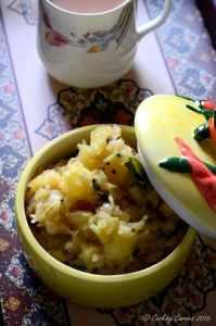 Kerala Kappa Masala | Kerala Style Spiced Tapioca Mash