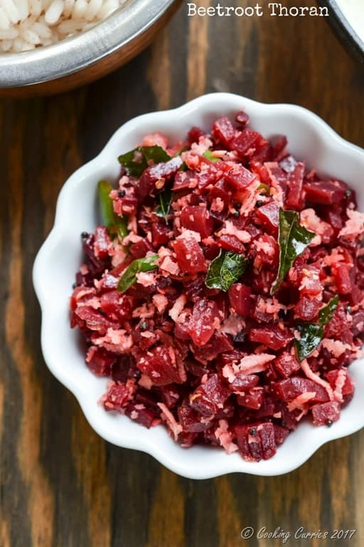 Beetroot Thoran - Beet Saute with Coconut