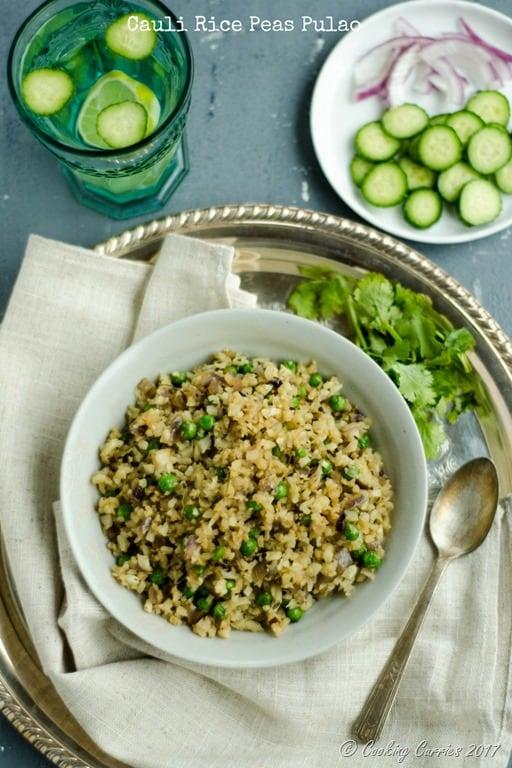 Cauli Rice Peas Pulao