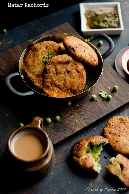 Matar Kachoris | Fried Pastry with Spiced Green Peas Filling
