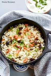 Chole Biryani | Basmati Rice with Chickpeas