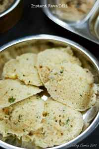 Instant Rava Idli – A South Indian Breakfast Recipe