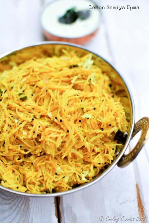 Lemon Semiya Upma - South Indian Breakfast Lemon Vermicelli