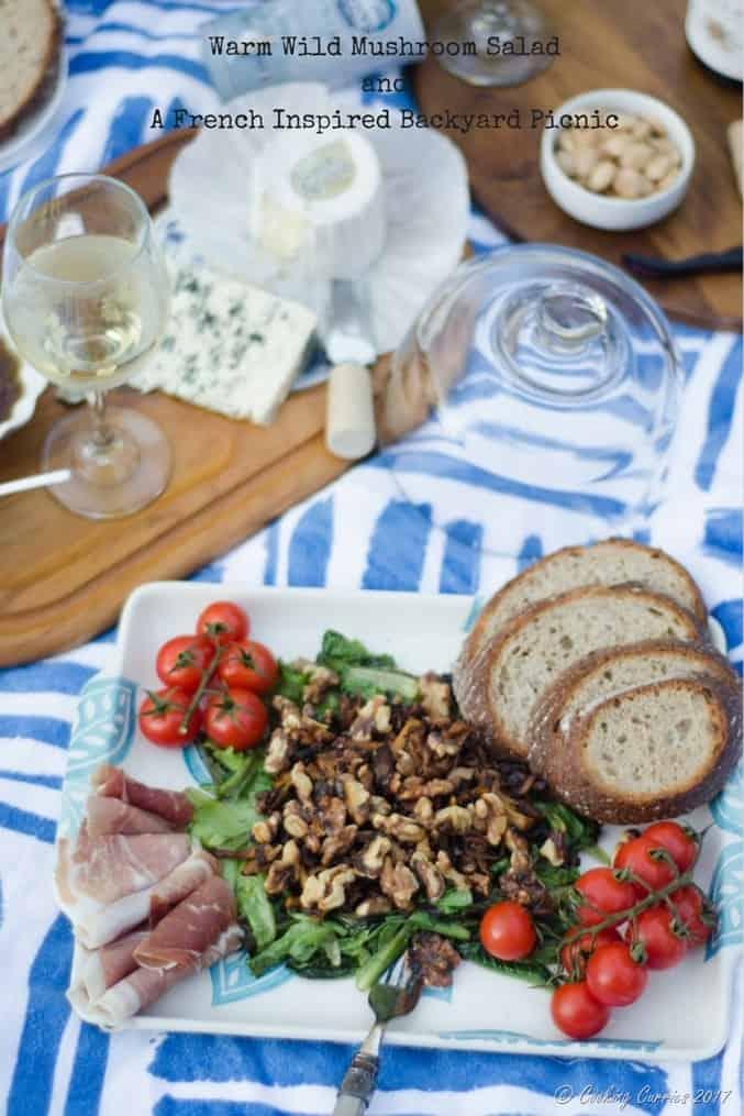Warm Wild Mushroom SaladandA French Inspired Backyard Picnic