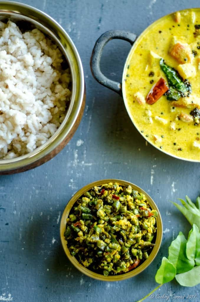 Achinga Payar Thoran - Yard Long Beans Saute with Coconut (3 of 4)