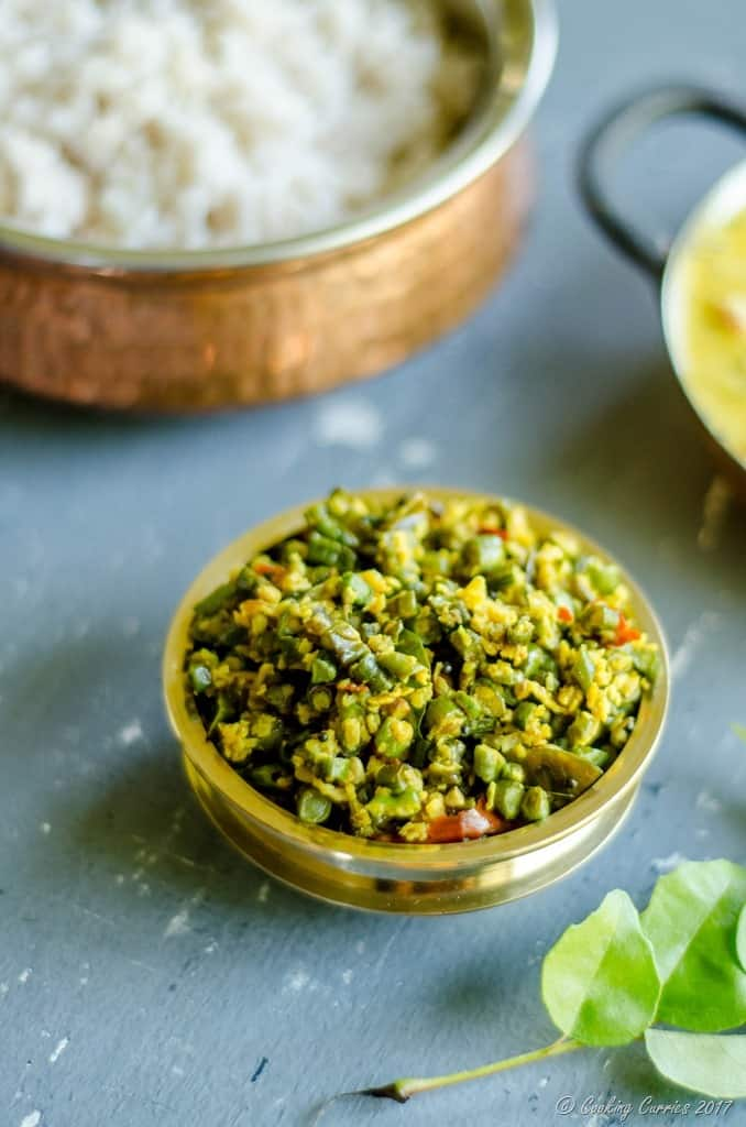 Achinga Payar Thoran - Yard Long Beans Saute with Coconut (4 of 4)