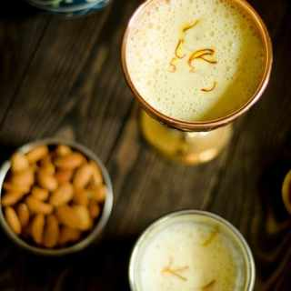 Kesar Badam Doodh - Saffron Almond Milk