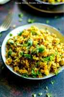 Spinach and Chickpeas Brown Rice Pulao
