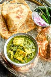 Palak Methi Paneer – Paneer with Spinach And Fenugreek
