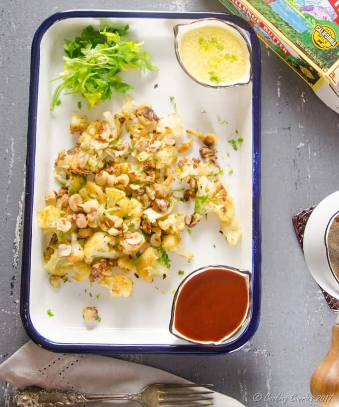 Roasted Cauliflower with Brown Butter Hazelnuts (1 of 4)