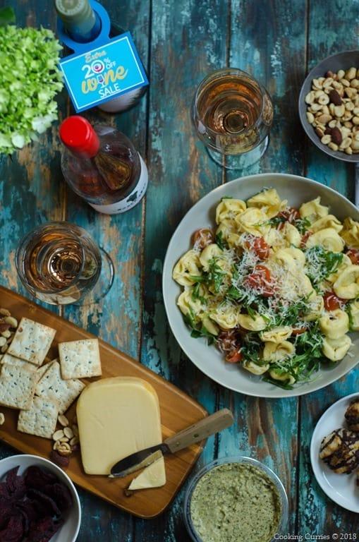 Lemon Garlic Tortellini Salad - Spring Picnic  (1 of 6)