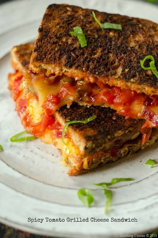 Spicy Tomato Grileld Cheese Sandwich