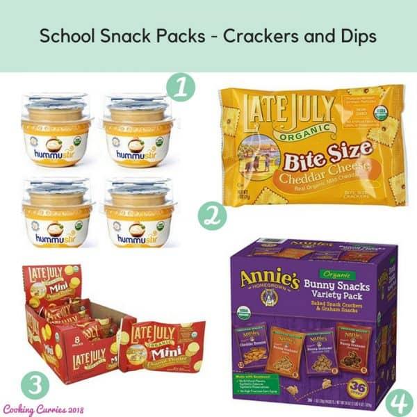 School Snack Packs - Crackers and Dips