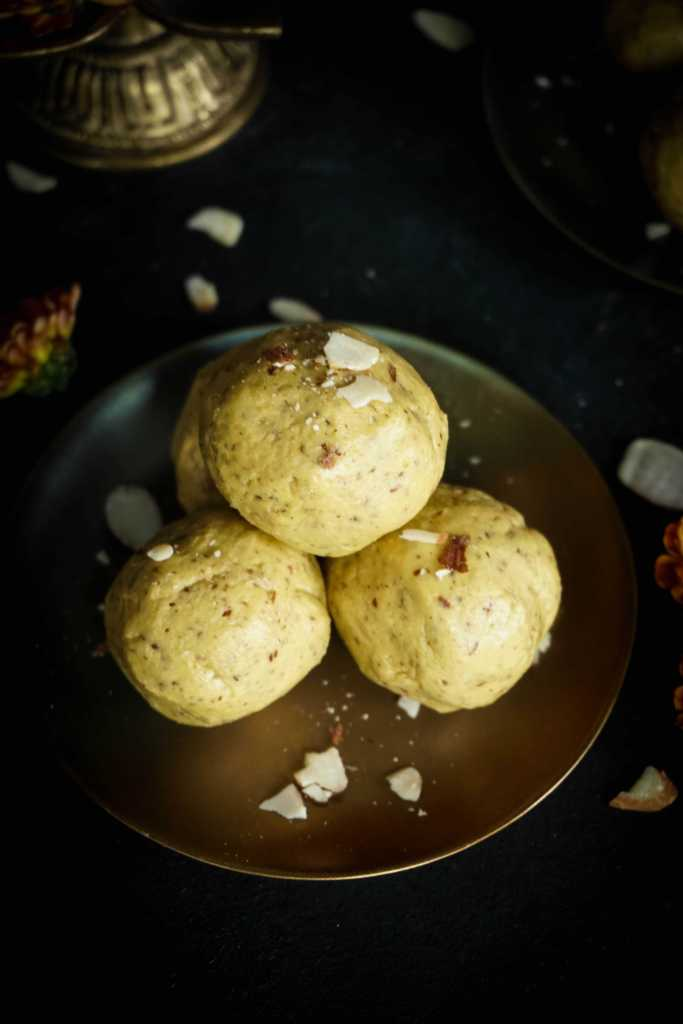 Besan Badam Laddoo - Step by Step Method