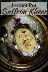 Instant Pot Saffron Kheer - Instant Pot Saffron Rice Pudding