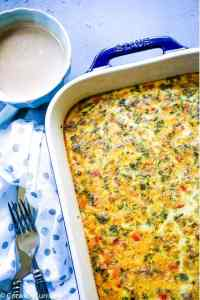 Masala Sausage and Egg Breakfast Casserole