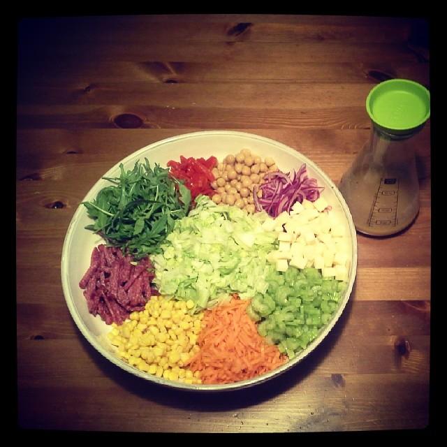Afval salade