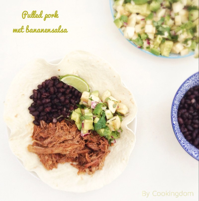 Pulled pork en bananensalsa Bij Cookingdom