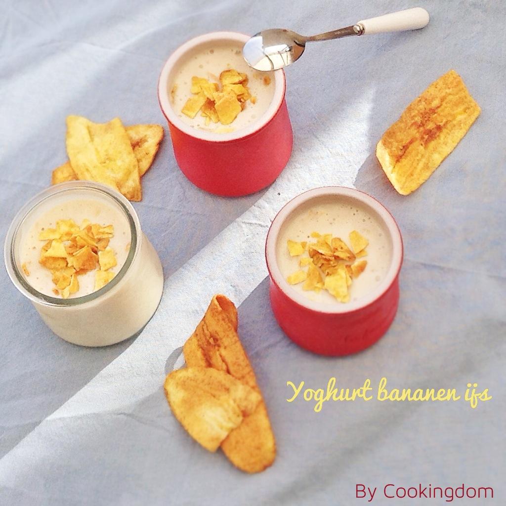 yoghurt bananen ijs