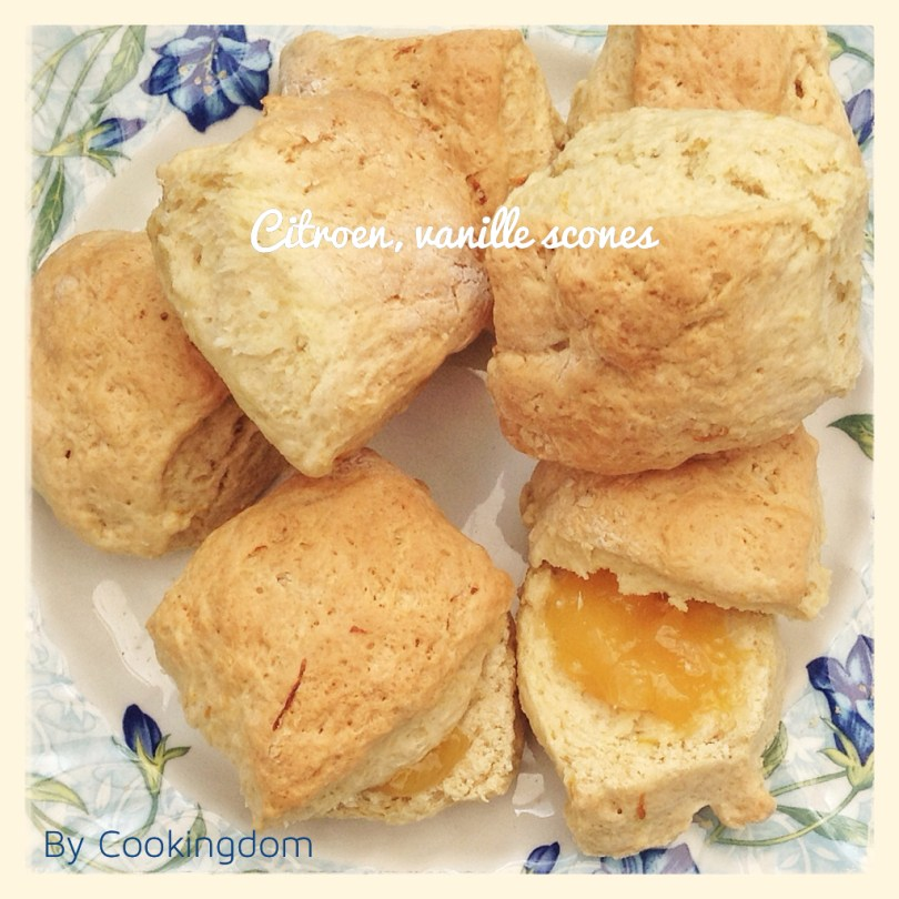 Citroen, vanille scones By Cookingdom
