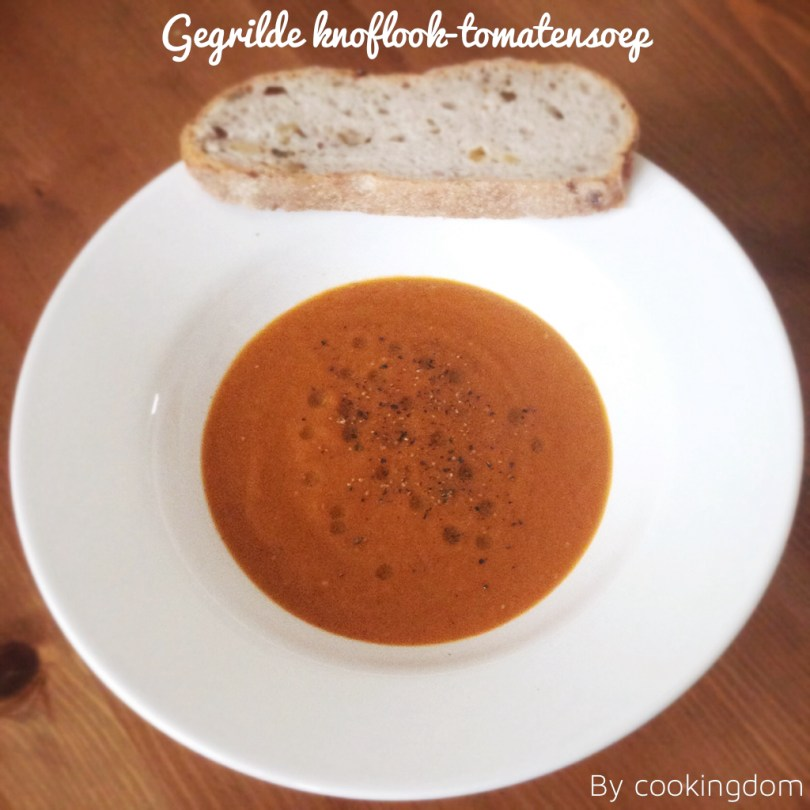 Gegrilde knoflook-tomatensoep By Cookingdom