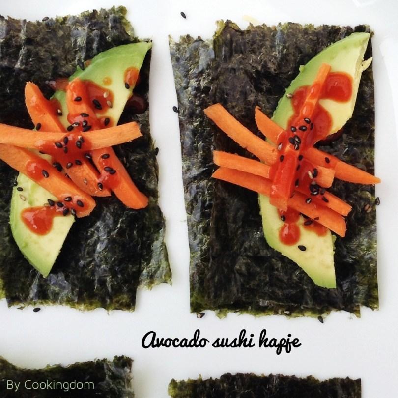 Acocado sushi hapje By Cookingdom