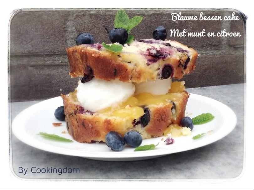 Blauwe bessen cake By Cookingdom