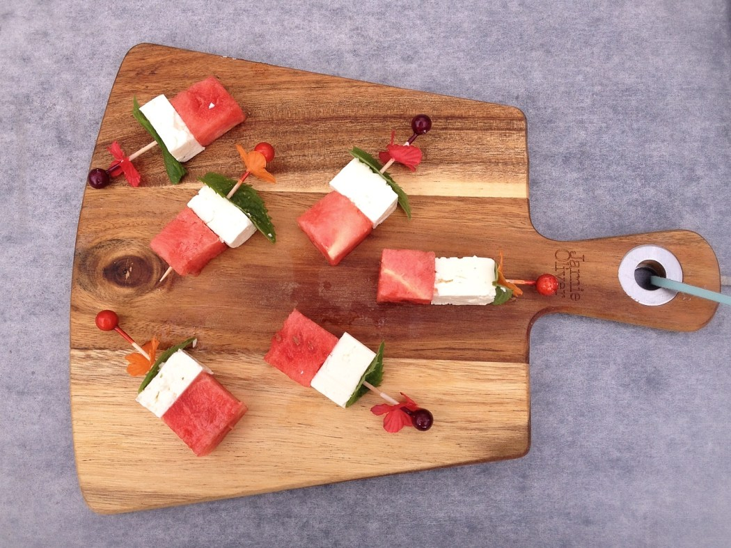 Feta-watermeloen snack By Cookingdom