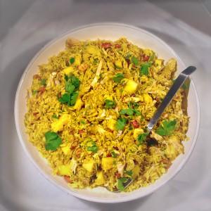 Kerrie rijst met mango