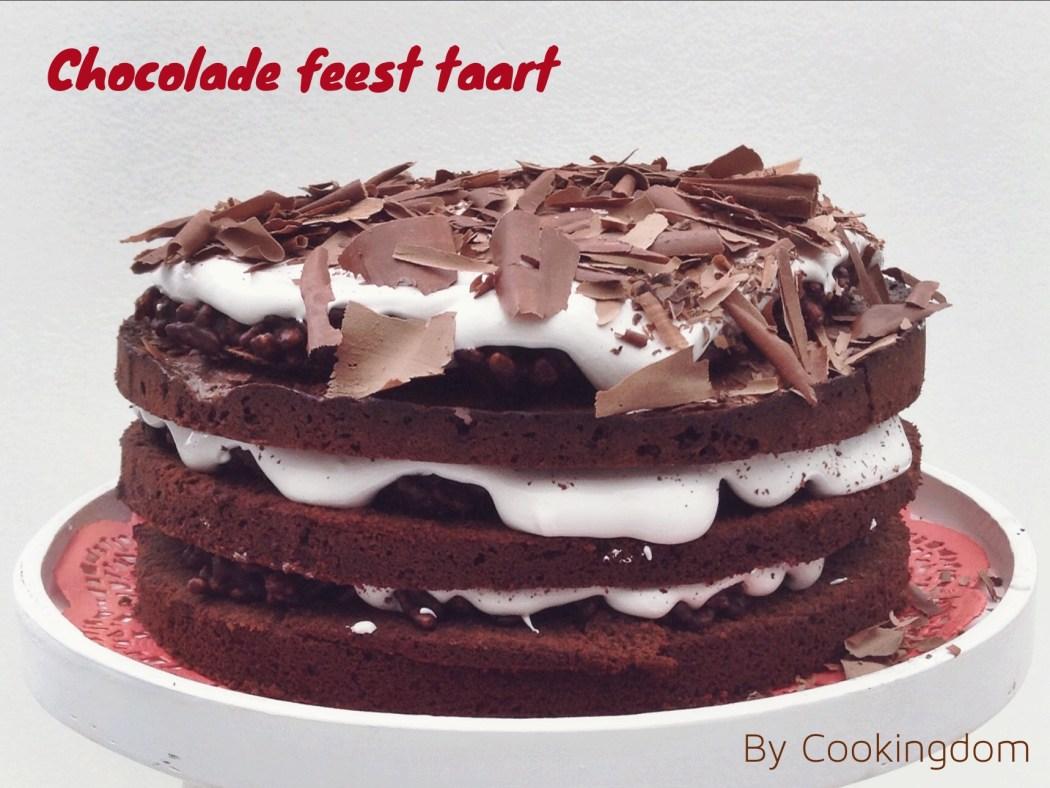 Chocolade feesttaart van Jamie By Cookingdom