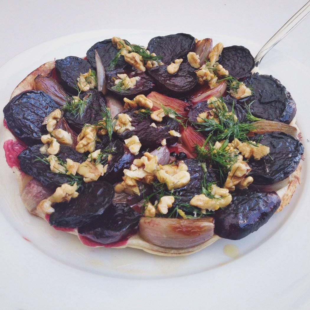 Tarte tatin van bietjes en sjalotjes, by cookingdom