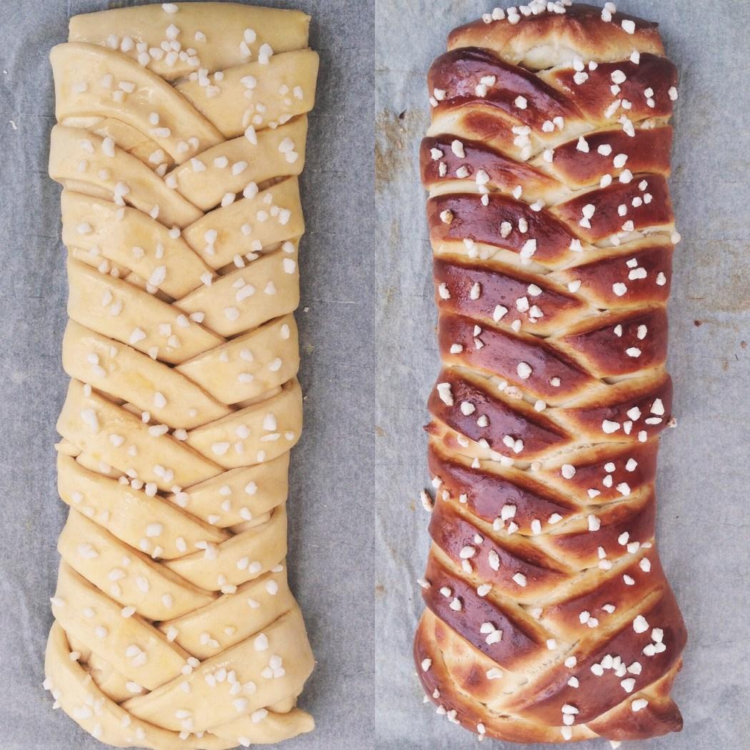 Gevlochten citroen brood, By Cookingdom