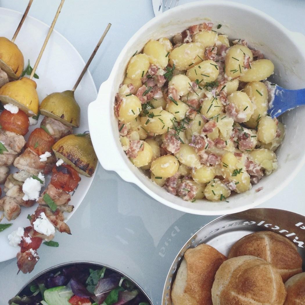 Aardappelsalade met spekblokjes, by Cookingdom