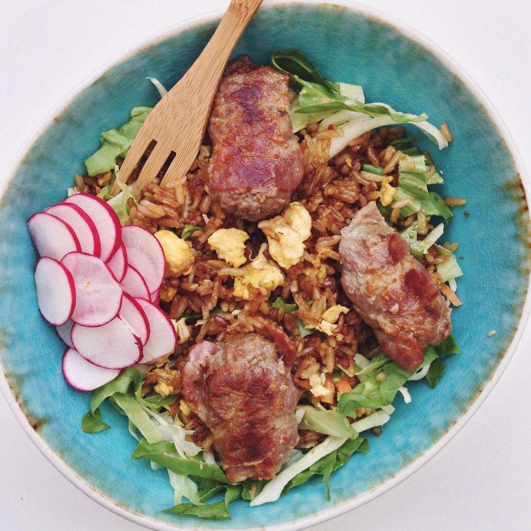 Gebakken rijst met mini blinde vinken, by Cookingdom