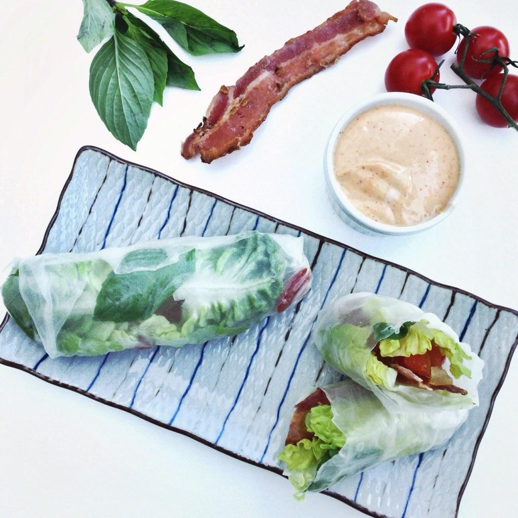 Spring rolls met bacon, sla en tomaat, by Cookingdom