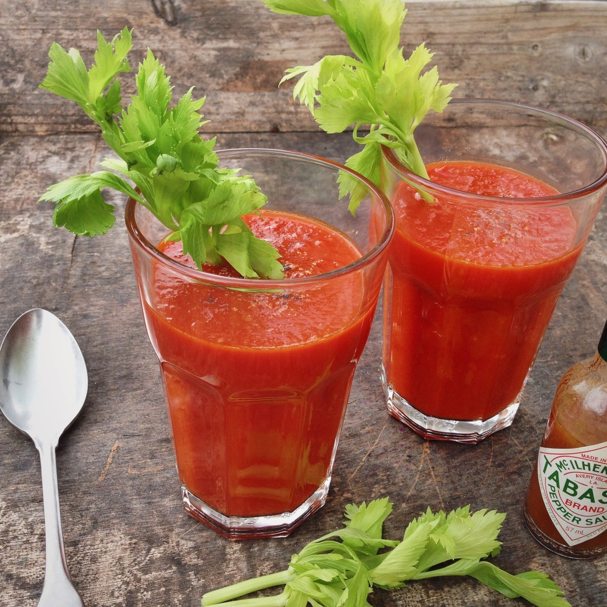 Bloody Mary soep, oftewel pittige tomatensoep