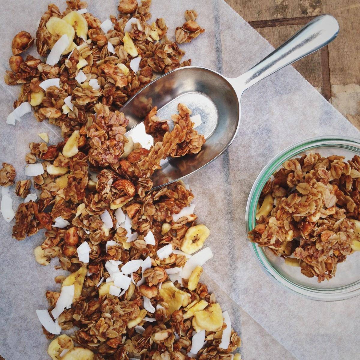 Tropische granola met vanille