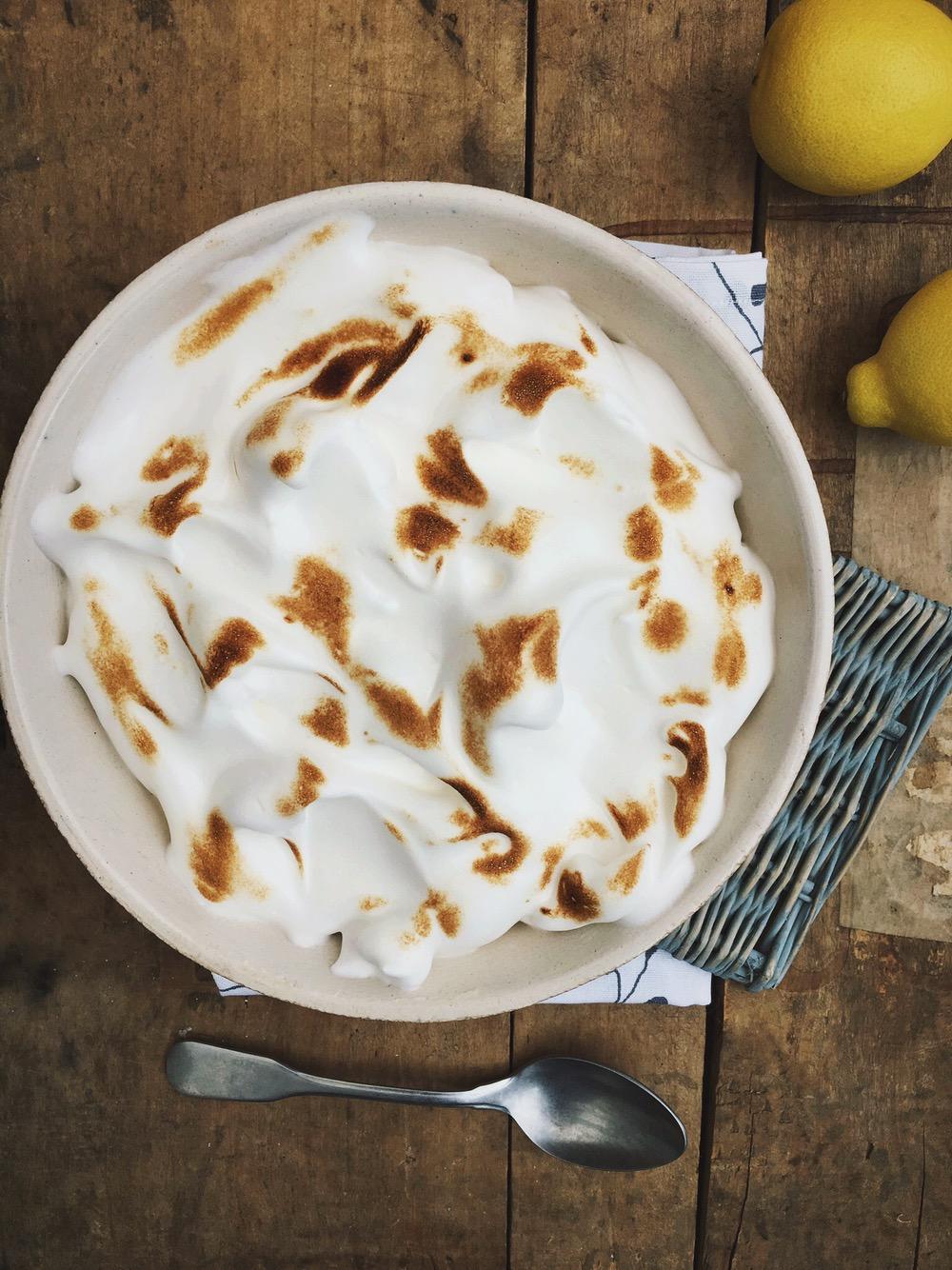 Citroenmousse met meringue