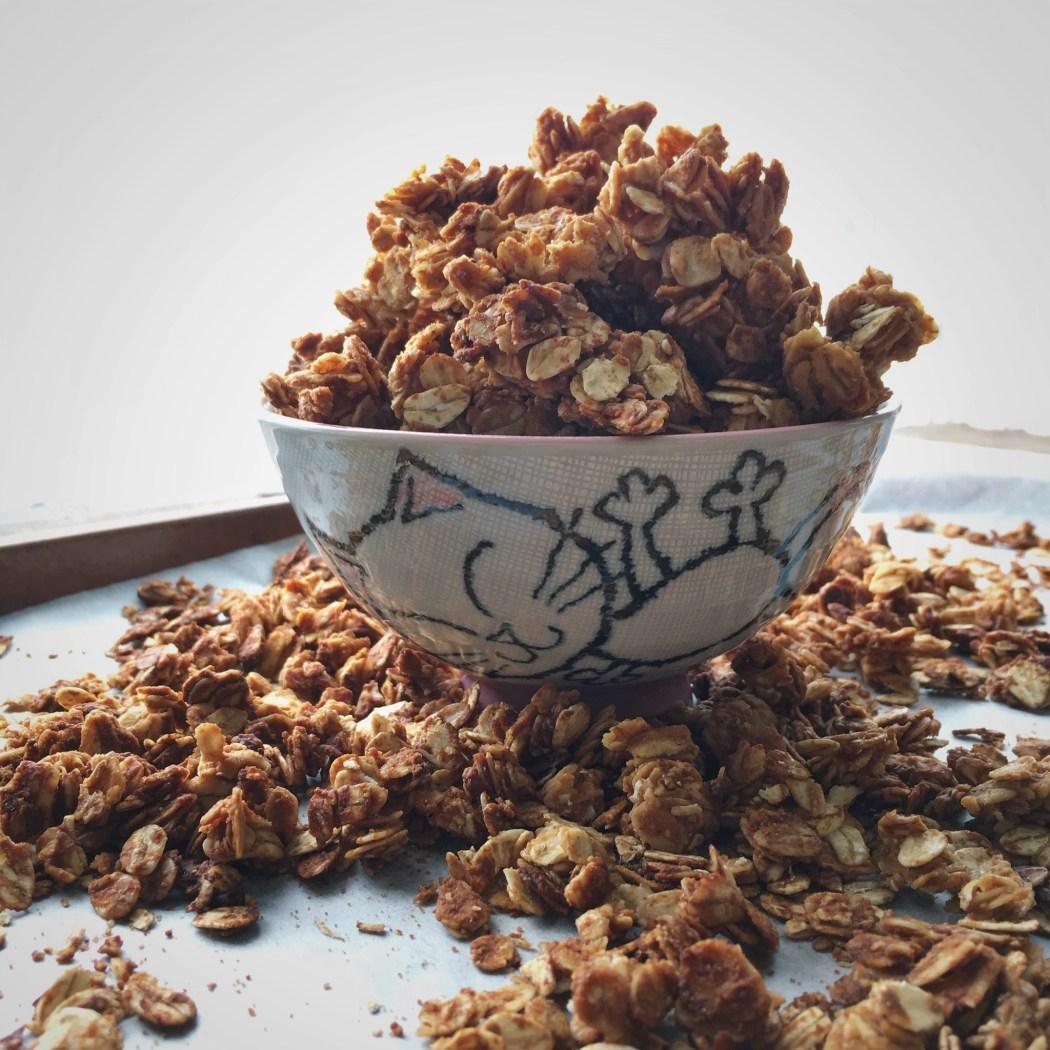 3 ingrediënten granola