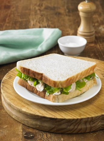 Chicken Lettuce and Home-Made Mayonnaise Sandwich