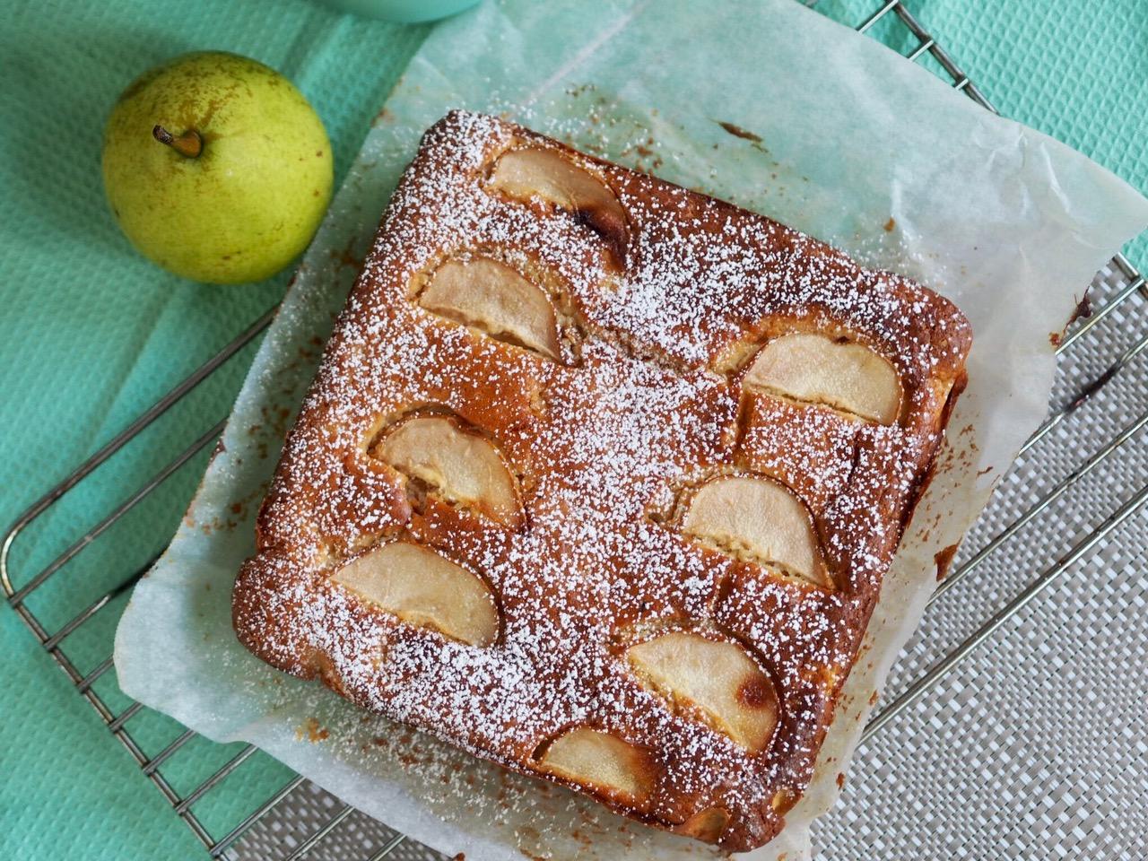 Pear, Yoghurt and Vanilla Slice Cake