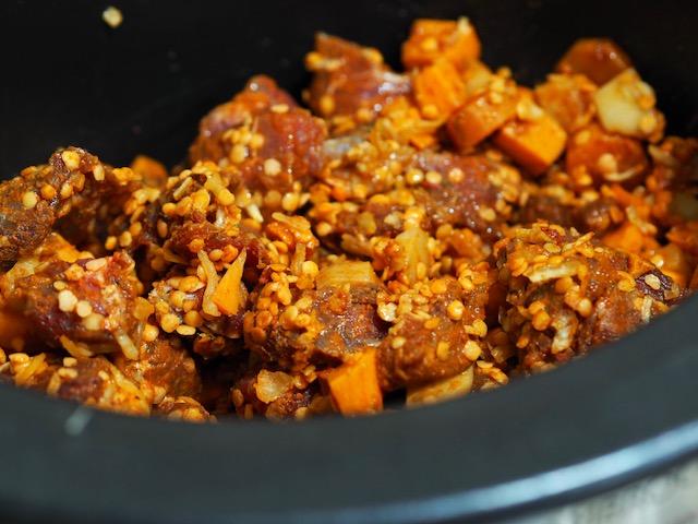 Slow Cooker Beef and Red Lentil Stew - Dump Bag