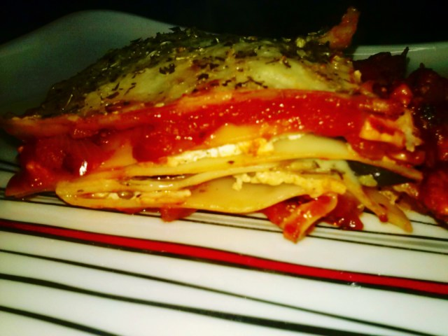 Lasagna - Sliced up!