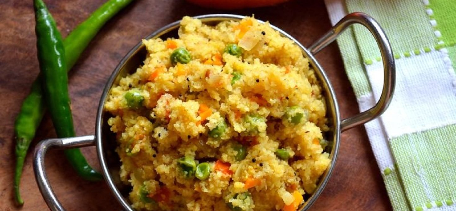 Bansi Rava Khichadi | Vegetable Rava Upma