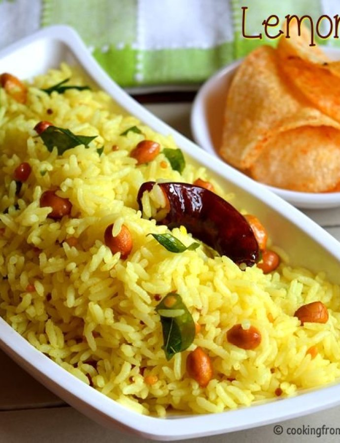 Lemon Rice | Quick Lunch Ideas