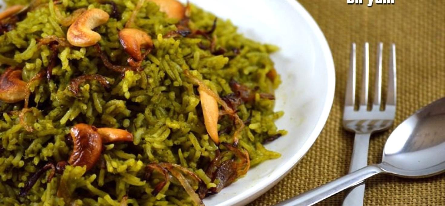 Palak Biryani | Sunday Biriyani Recipes