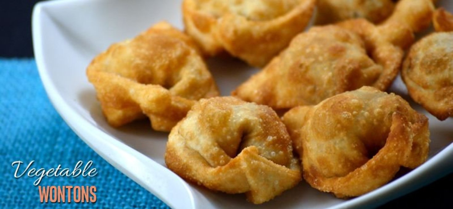 Vegetable Wontons | Eggless Wonton Recipe