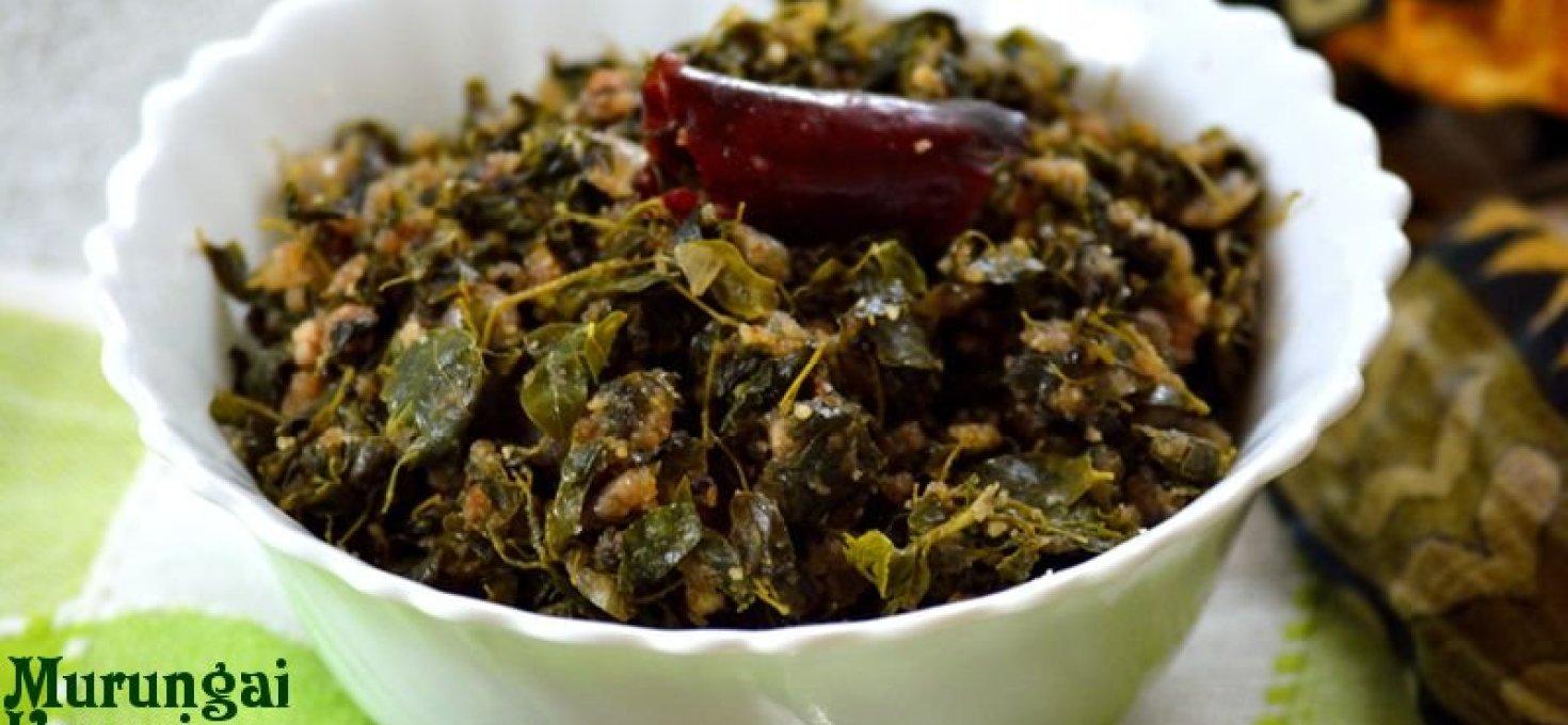 Murungai Keerai Poriyal | Drumstick Leaves Stir-fry