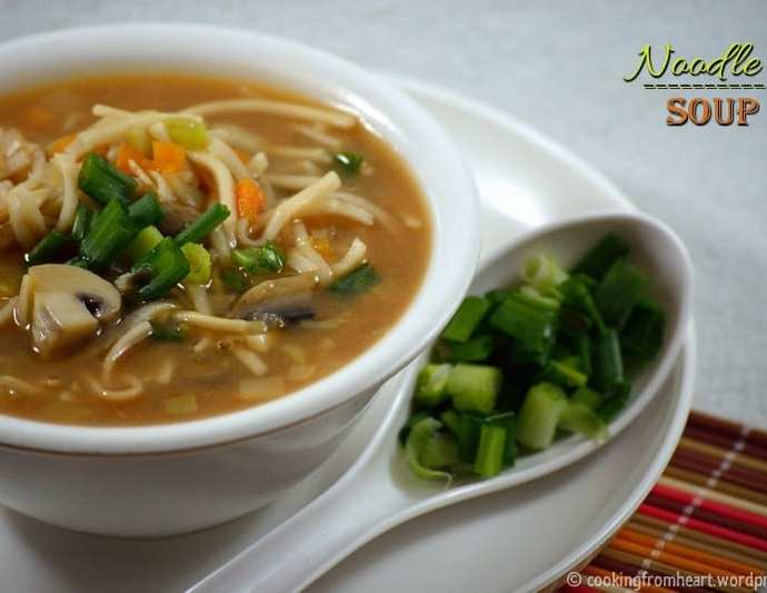 Noodle Soup | Home-made Soupy Noodles Recipe